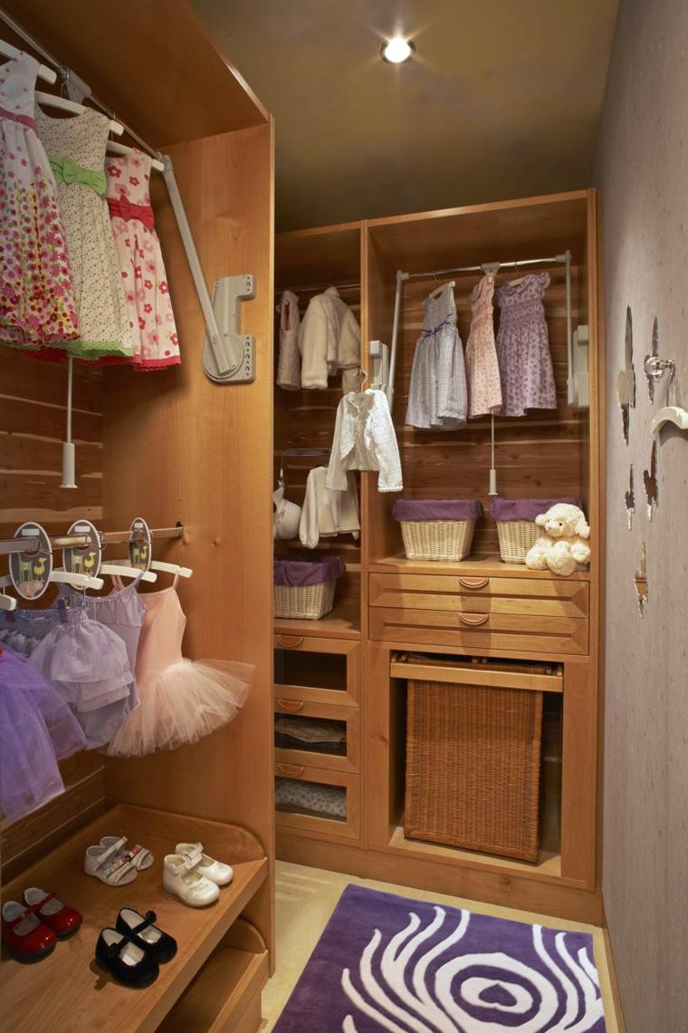 bonito armario infantil interior madera