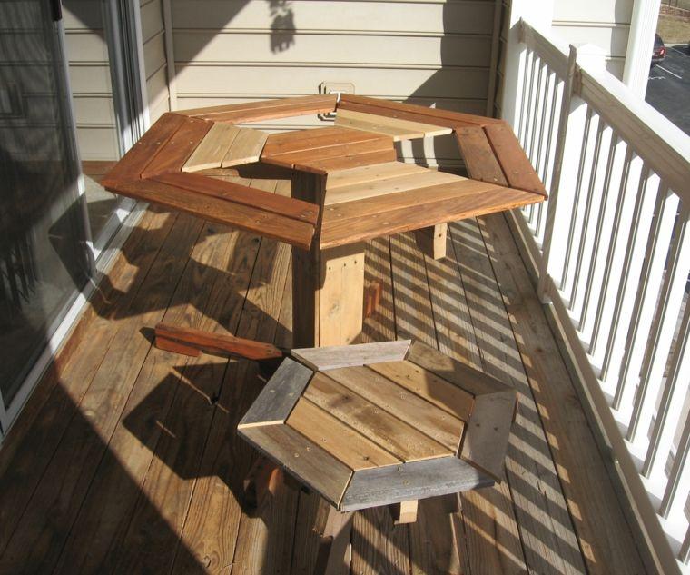 bonito conjunto muebles terraza palet