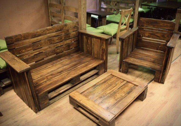 Decoracion con palets ideas para muebles de dise o casero for Muebles de palets precio