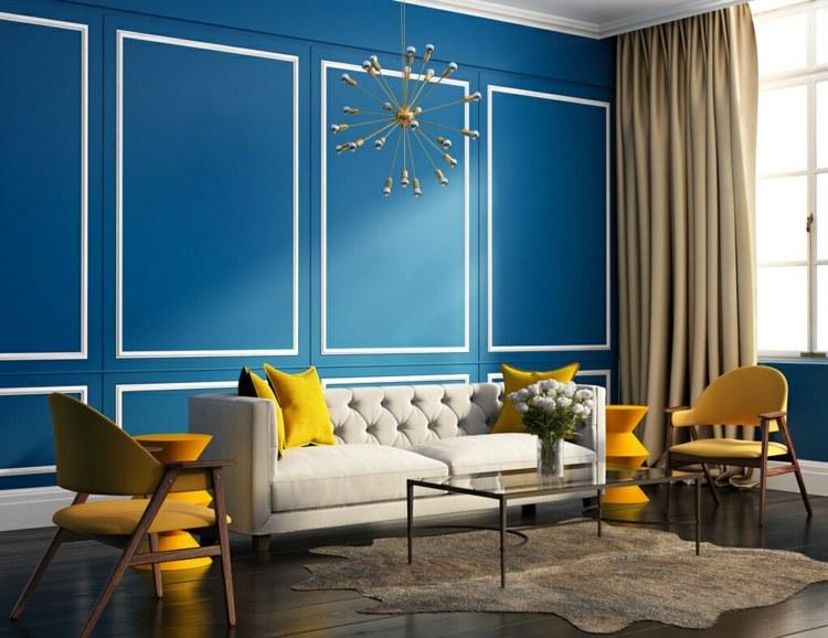 bonito dieño deco salon color azul