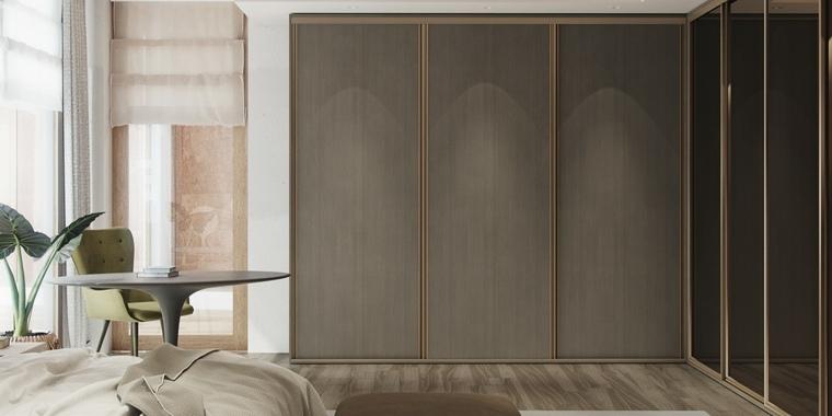 bonito diseño armario marrón moderno