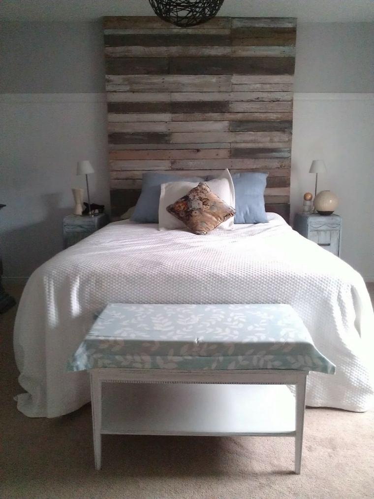 bonito diseño cabecero cama madera
