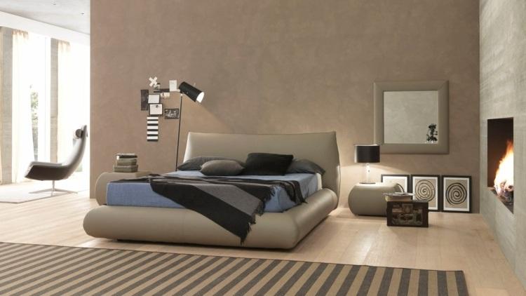 bonito diseño cama color beige