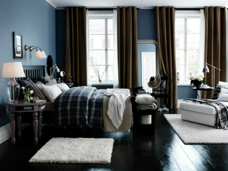 bonito diseño dormitorio azul