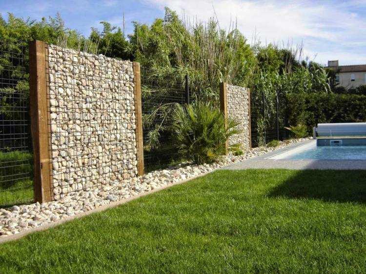 Gaviones Y Muros De Alambre Y Piedras 63 Disenos - Muros-jardin