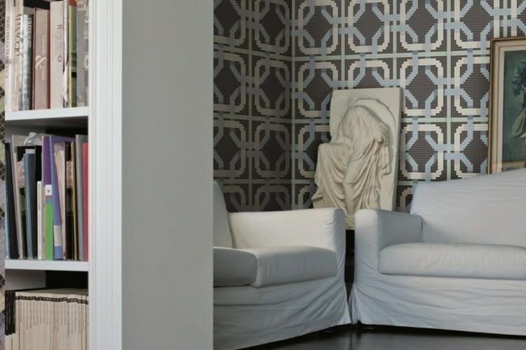 bonito mosaico sala estar