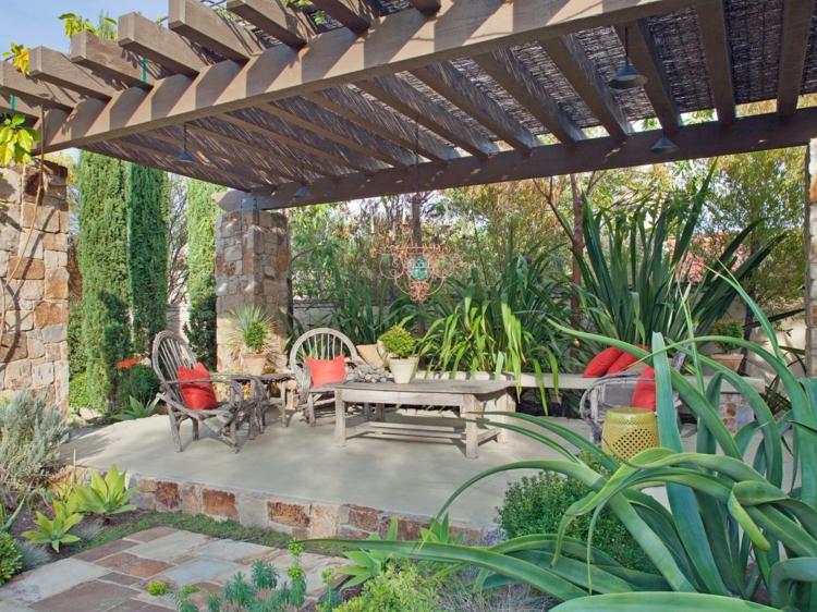 bonito diseño terraza pergola