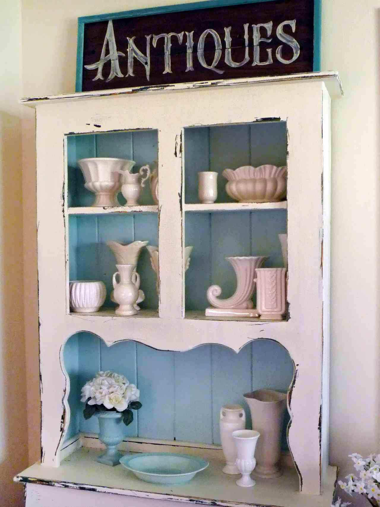 bonito mueble gabinete shabby cocina