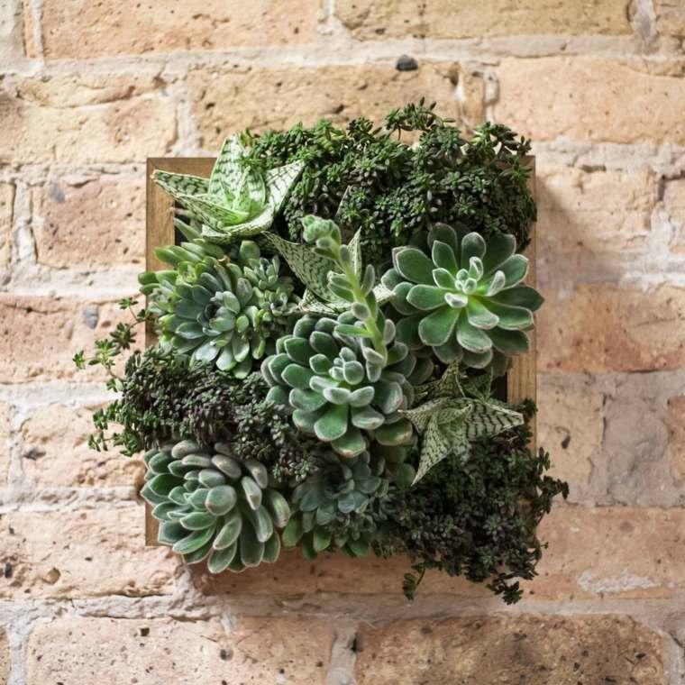 bonito cuadro plantas pared
