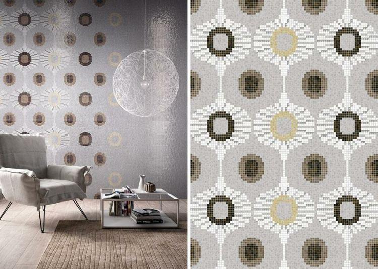 bonito mosaico estilo vintage