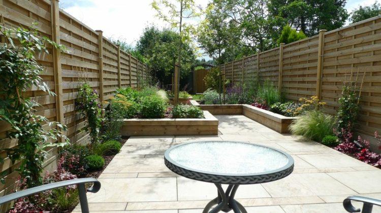 bonito diseño jardín terraza