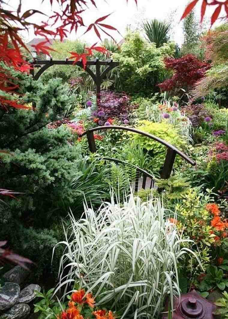 bonitos diseños puentes de jardín