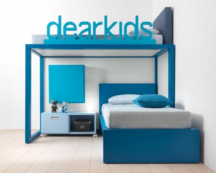 bonitos muebles infantiles color turquesa