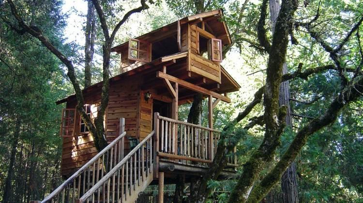 bonita casa en el arbol madera - Casas En Los Arboles