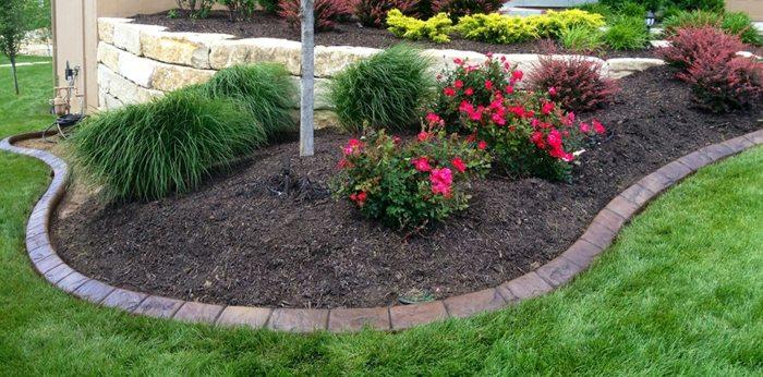 Bordillos para jardin definiendo espacios coloridos y - Palmeras para jardines ...