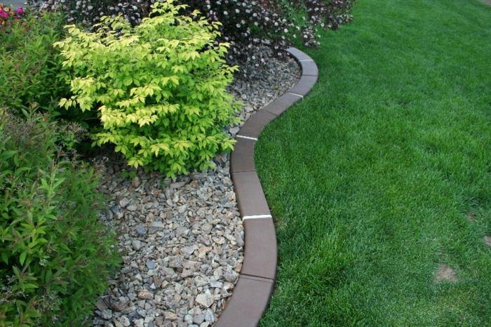 bordillos para jardin piedras colores espacios