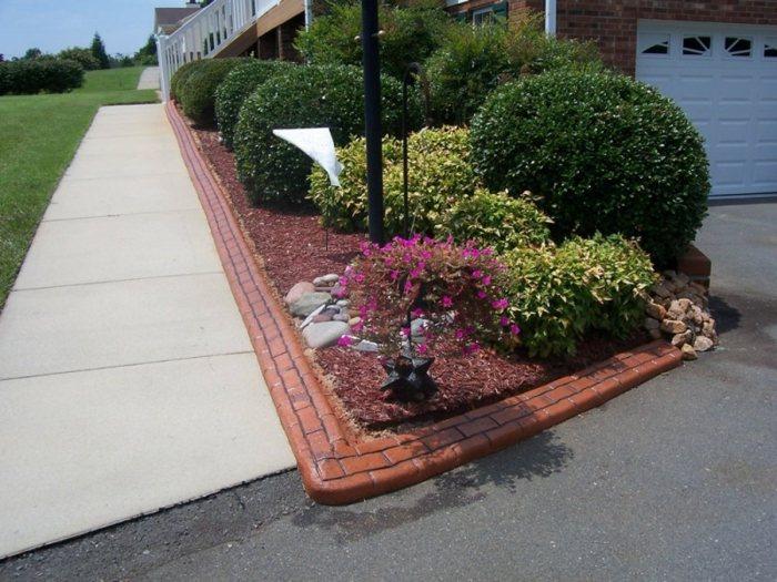 bordillos para jardin rojo condiciones rosa