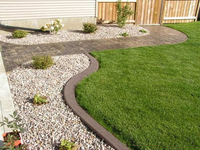 bordillos para jardines minimalista ideas blanco