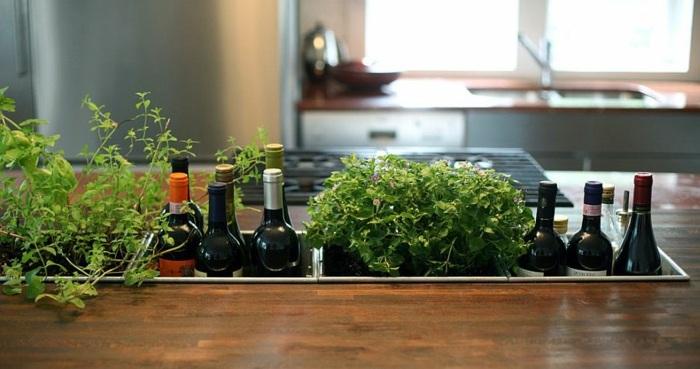botellas colores cocinas estantes cocinas