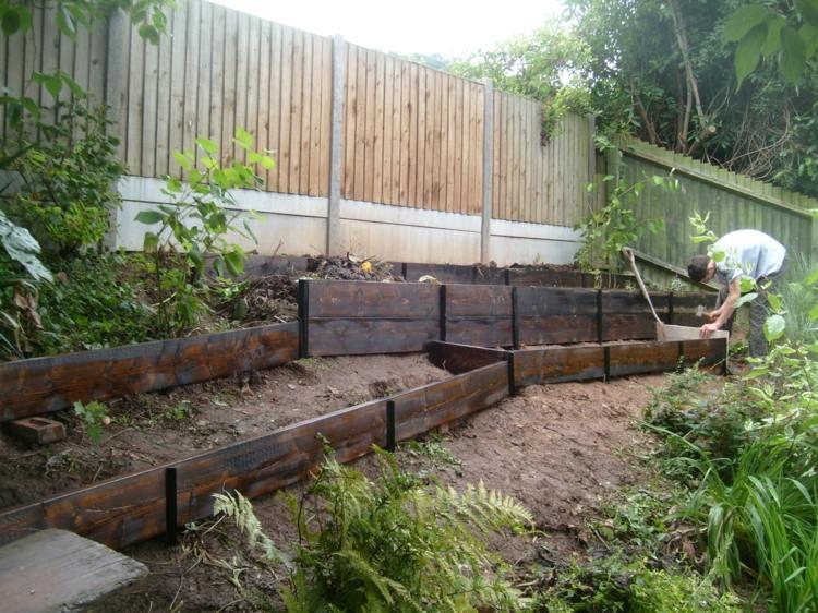 cómo construír jardineras madera gradas