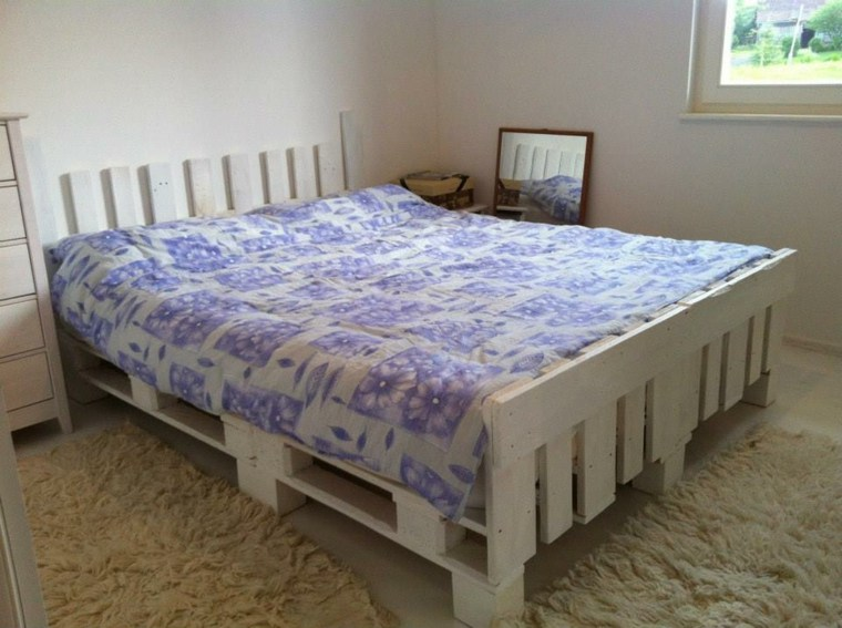 cama palet color blanco soluciones