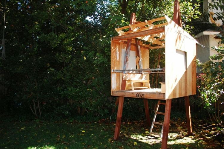 cabaña madera moderna deco niños