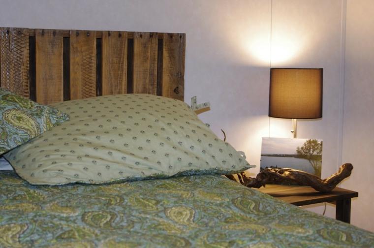 cabecero cama diseño palet