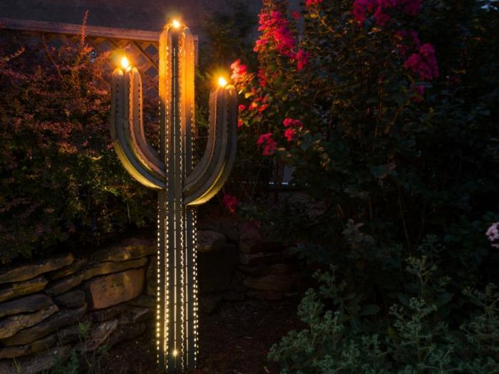 cactus decorativo exteriores pinceles rosas