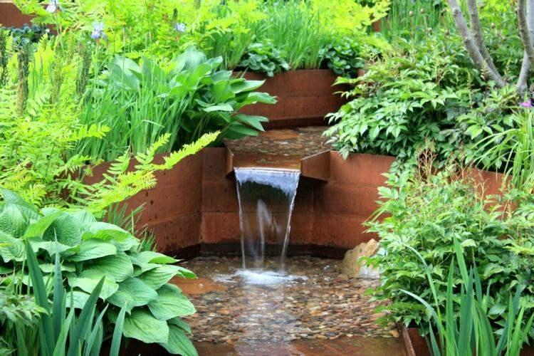 caida agua acero corten oxidacion opciones ideas