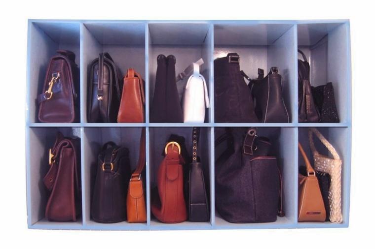 cajas estantes organizador bolsos