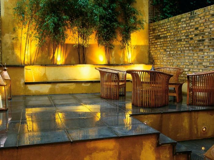 calidos patios sala exterior casas