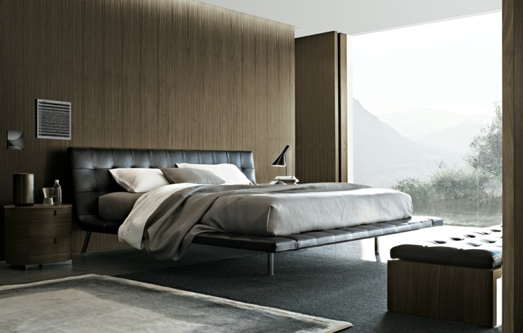 cama diseño color negro cabecero