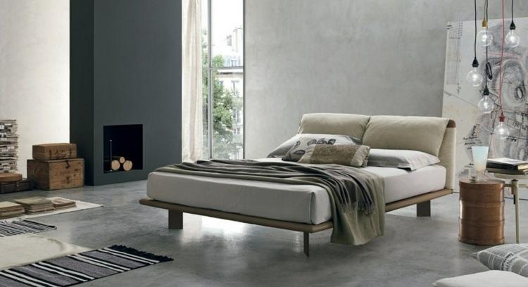 cama diseño moderno cables salidas maderas