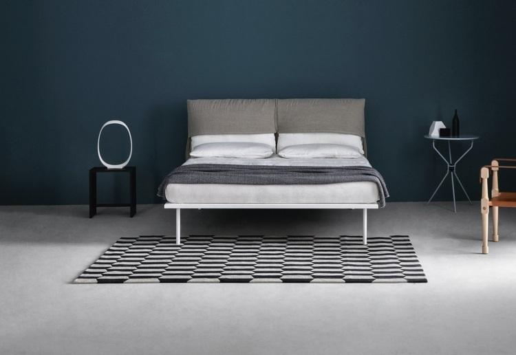 cama diseño moderno estilos azules contornos