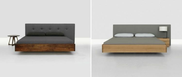 cama diseño moderno estilos grises rosados