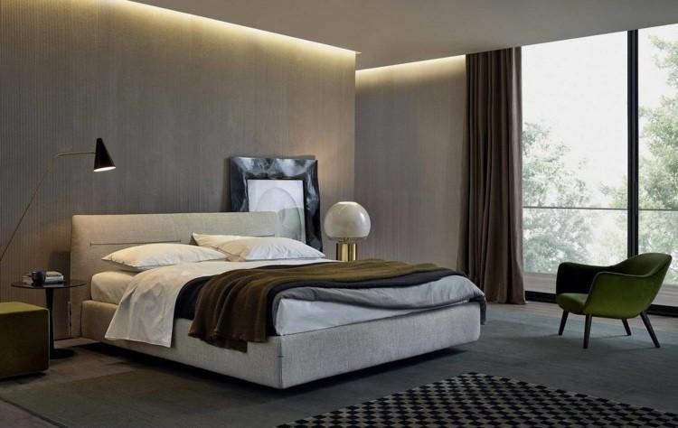 cama diseño moderno falso techo led