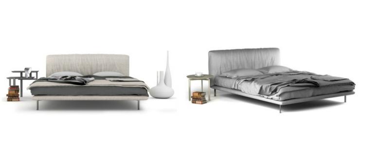 cama diseño moderno neutrales estancias lineas