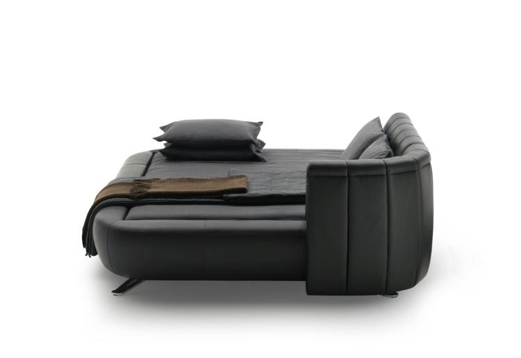 cama diseño moderno pendientes soluciones negro