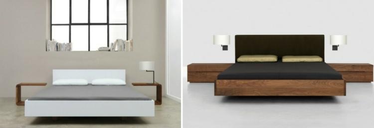 cama diseño moderno pendientes variaciones lamparas