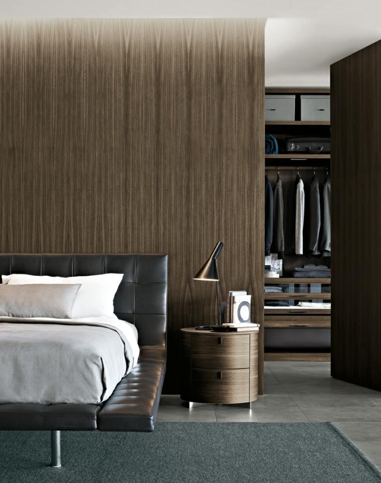 cama diseño moderno piel marrón
