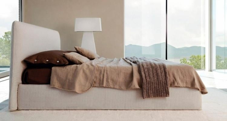 cama diseño moderno ventanas cristales colores
