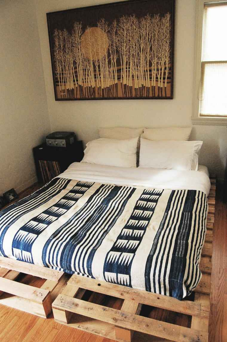 cama moderna dos palets simple