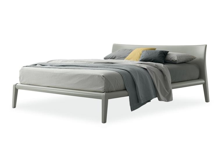 cama color gris diseño moderno
