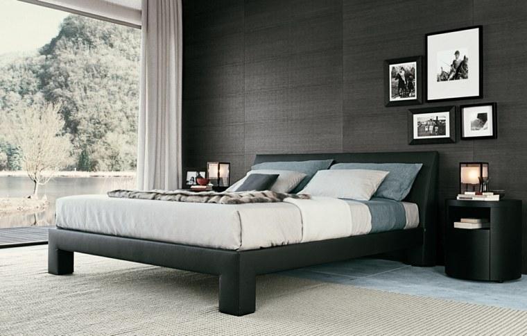 diseño cama moderna negra