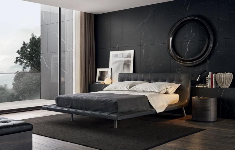 cama moderna firma poliform gris