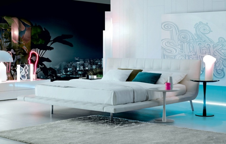 cama Poliform color moerna blanco