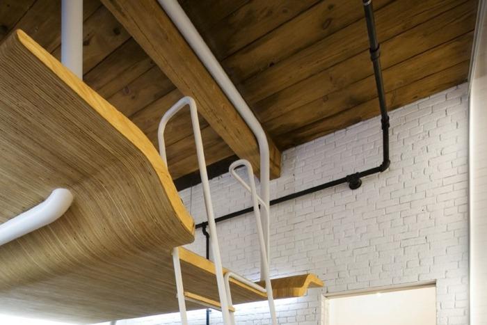 cama madera techo madera moderno
