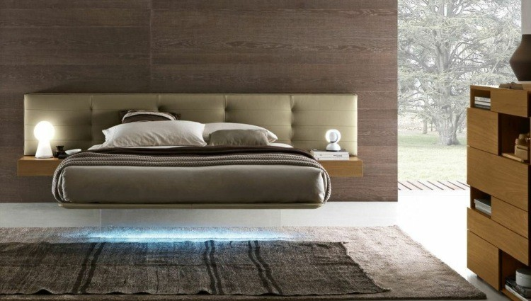 cama moderna luces LED