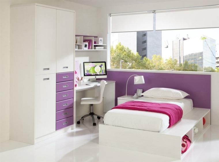 camas infantiles dormitorio chica escritorio moderno ideas
