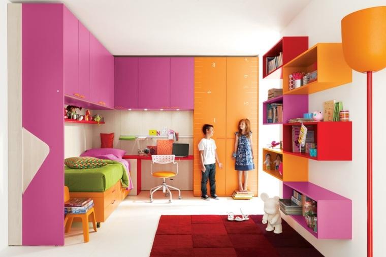 Camas infantiles 50 dormitorios modernos for Diseno de muebles para dormitorio de nina